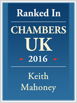Keith is ranked in Chambers UK 2016