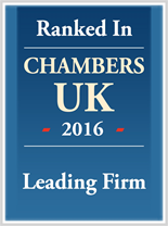 Leading Firm ranked in Chambers UK 2016